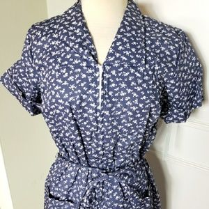 Vintage 80s does 50s short sleeve day dress